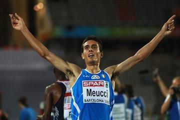 Daniele Meucci taking European 10,000m bronze in Barcelona (/Bongarts)