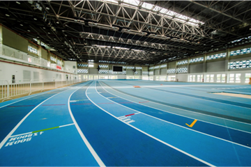 The track at Nanjing's Cube Indoor Athletics Facility (LOC)
