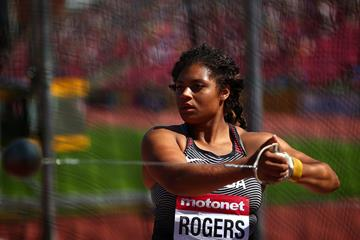 Camryn Rogers in the hammer at the IAAF World U20 Championships Tampere 2018 (Getty Images)