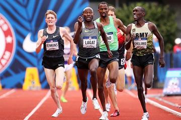 Bernard Lagat wins the 5000m at the US Olympic Trials (Getty Images)