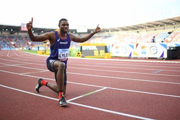 Noah Lyles after winning the Continental Cup 100m title (Getty Images)