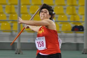 Yu Yuzhen at the Asian Youth Championships in Doha (Organisers)