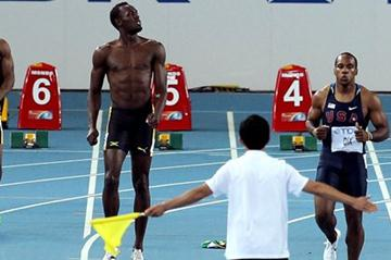 100m Final, Daegu 2011 - Bolt DQ (Getty Images)