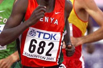 Reuben Kosgei on his way to World Steeplechase gold in Edmonton 2001 (Getty Images)