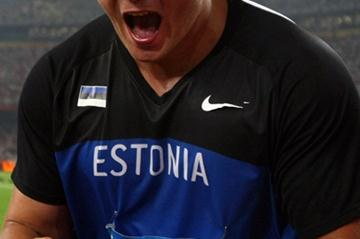 Gerd Kanter is over the moon after winning the men's discus final (Getty Images)
