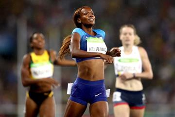 Dalilah Muhammad wins the 400m hurdles at the Rio 2016 Olympic Games (Getty Images)