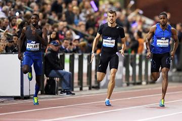 Noah Lyles wins the 200m at the IAAF Diamond League final in Brussels (Gladys Chai von der Laage)