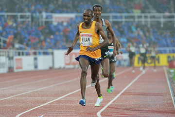Ibrahim Jeilan wins the 5000m at the IAAF Diamond League meeting in Stockholm (Hasse Sjogren)