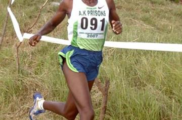 Catherine Ndereba dashes to victory at the Kenyan Prisons Cross Country Championships (Omulo Okoth)