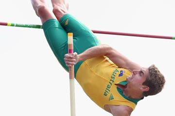 Cedric Dubler in the decathlon pole vault at the IAAF World Junior Championships, Oregon 2014 (Getty Images)