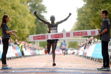 John Lotiang wins the Cardiff Half Marathon (Organisers)