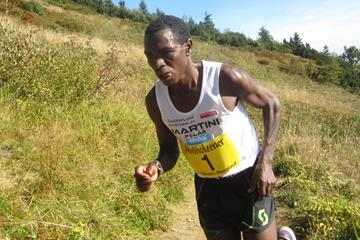 Eritrea's Petro Mamu in action during the Hochfellnberglauf in Bergen (Organisers)