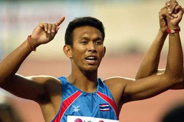 Sittichai Suwonprateep (THA) - 4x100m gold but silver in both individual sprints (Aundry Gan)