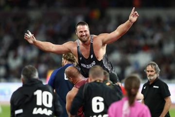 Tom Walsh after winning the shot put at the IAAF World Championships London 2017 (Getty Images)