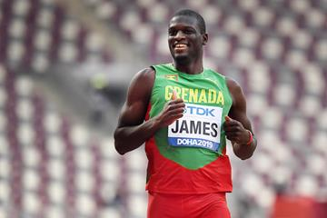Kirani James in the 400m at the IAAF World Athletics Championships Doha 2019 (AFP / Getty Images)