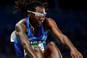 Brittney Reese in the long jump at the Rio 2016 Olympic Games (Getty Images)