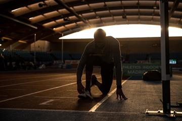 Athletes training ahead of the World Athletics Indoor Tour meeting in Madrid (Dan Vernon)