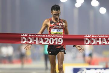 Toshikazu Yamanishi at the IAAF World Athletics Championships Doha 2019 (Getty Images)