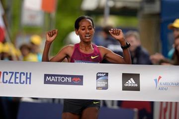 Mulu Seboka wins the Karlovy Vary Half Marathon (RunCzech)
