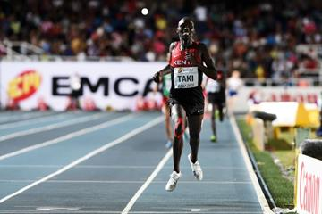 Kumari Taki winning the boys' 1500m at the IAAF World Youth Championships, Cali 2015 (Getty Images)