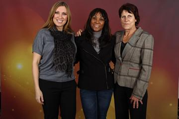 800m legends Svetlana Masterkova, Ana Quirot and Jarmila Kratochvilova in Barcelona (Giancarlo Colombo)