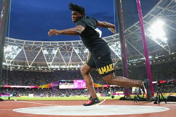 Jamaica's Fedrick Dacres in the discus at the IAAF World Championships London 2017 (Getty Images)