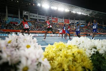 Baton exchanges in the men's 4x400m at the IAAF/BTC World Relays Bahamas 2017 (Getty Images)