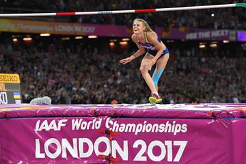Yuliya Levchenko in London (AFP/Getty Images)