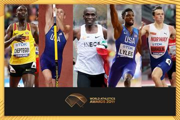 The finalists for the Male World Athlete of the Year 2019 (AFP / Getty Images)