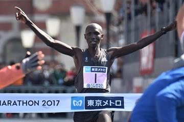 Wilson Kipsang winning the Tokyo Marathon (AFP/Getty Images)