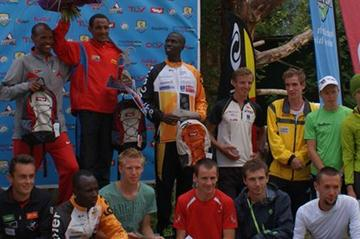 The men's podium in Mayrhofen (Organisers)