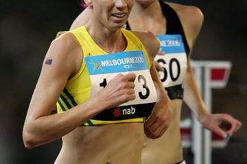 Victoria Mitchell competing at the 2006 Commonwealth Games (Getty Images)