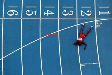 Alysia Montano in the womens 800m at the IAAF World Athletics Championships Moscow 2013 (Getty Images)