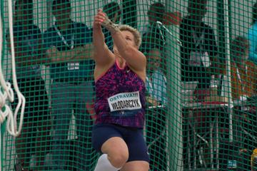 Anita Wlodarczyk spins to a meeting record in Ostrava (Bob Ramsak)