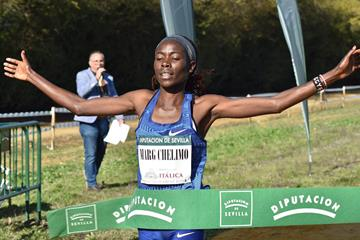 Margaret Chelimo Kipkemboi wins the Cross Internacional de Italica in Seville (Asociación ANOC)