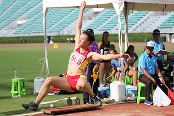 China's Gong Luying, winner of the long jump at the Asian Youth Championships (Athletics Asia)