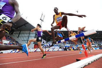 Conseslus Kipruto at the Continental Cup in Ostrava (Getty Images)
