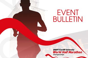 Event bulletin for the IAAF/Cardiff University World Half Marathon Championships Cardiff 2016 ()