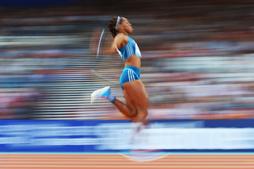 Shara Proctor in action in the long jump (Getty Images)