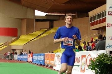 Dennis Mehlfeld winning the Monaco Half Marathon (organisers)