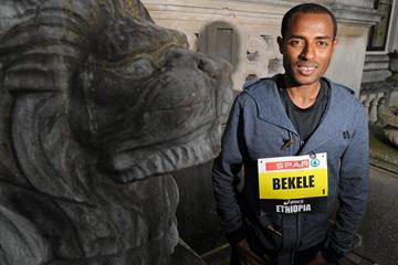 Kenenisa Bekele ahead of the 2013 SPAR Great Ireland Run (Organisers)