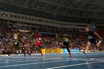 The men's 100m final at the IAAF World Championships Moscow 2013 (Getty Images)