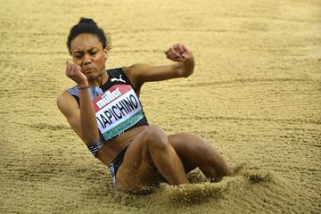 Italian long jumper Larissa Iapichino in action (Getty Images)