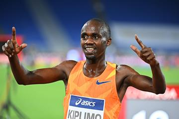 Jacob Kiplimo after winning the 3000m at the Wanda Diamond League meeting in Rome (AFP / Getty Images)