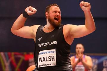 Tom Walsh in the shot put at the IAAF World Indoor Championships Birmingham 2018 (Getty Images)