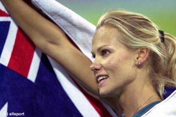 Women's pole vault silver medallist Tatiana Grigorieva (© Allsport)
