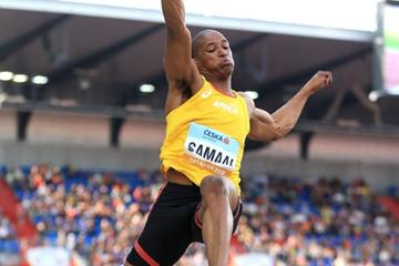 Ruswahl Samaai sails to victory in the Continental Cup long jump (Getty Images)