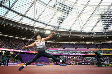 Johannes Vetter in javelin qualifying at the IAAF World Championships London 2017 (Getty Images)
