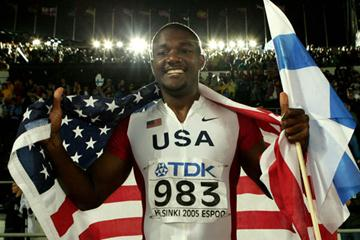 Double World champion Justin Gatlin of the US (Getty Images)