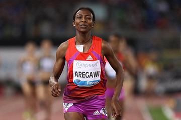 Abeba Aregawi claims the Ethiopian 1500m record in Rome (Giancarlo Colombo)
